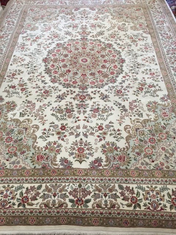 "9'2"" x 12'2"" Sino Chinese Oriental Rug - Hand Made - Wool & Silk - Very Fine"
