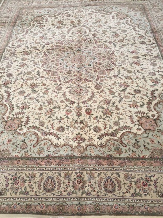 "11'8"" x 14'4"" Sino Chinese Oriental Rug - Wool & Silk - Very Fine - Hand Made"