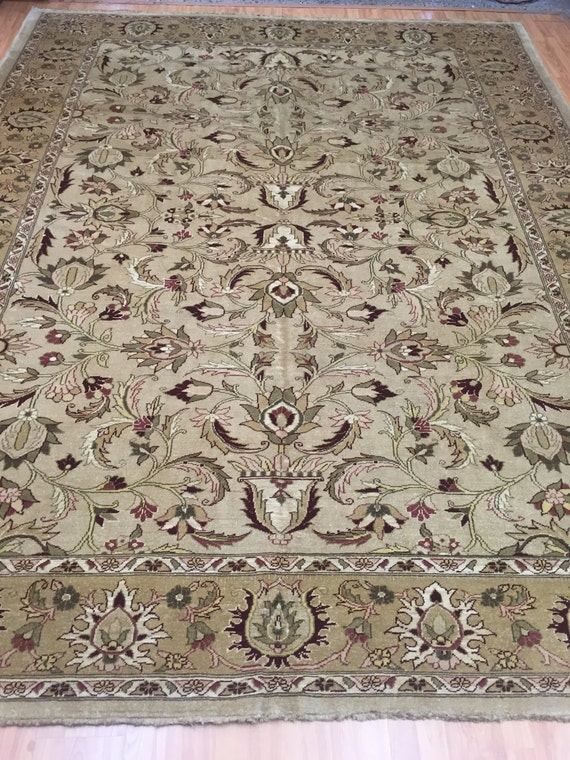 "8'11"" x 11'8"" Pakistani Peshawar Oriental Rug - Hand Made - Vegetable Dye - 100% Wool"