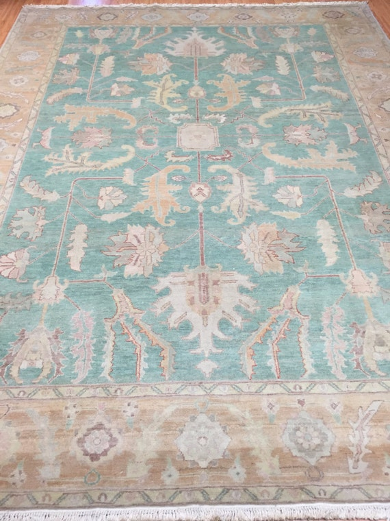 "8'3"" x 10'8"" Egyptian Oriental Rug - Hand Made - Antique Look - 100% Wool"