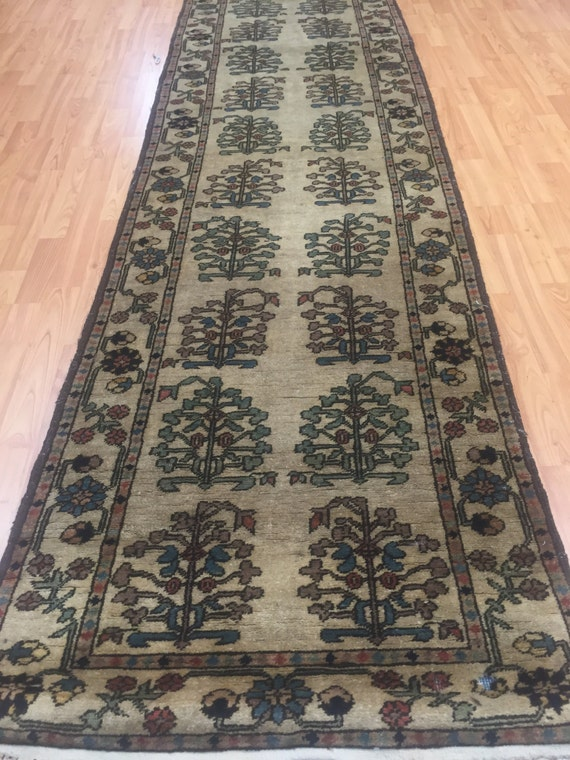 "2'6"" x 9'6"" Afghan Floor Runner Oriental Rug - Hand Made - 100% Wool"