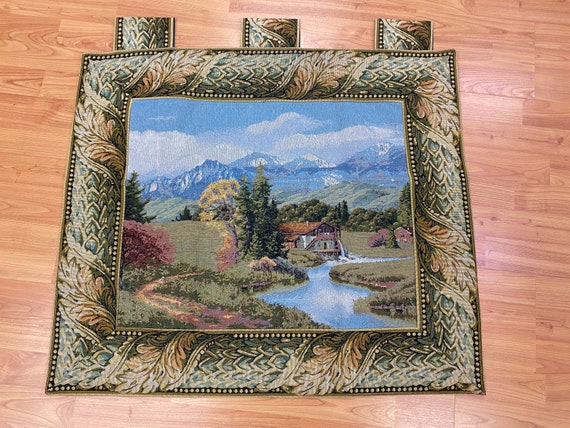 """2'7"""" x 2'8"""" New French Tapestry - Countryside - Hand Made"""