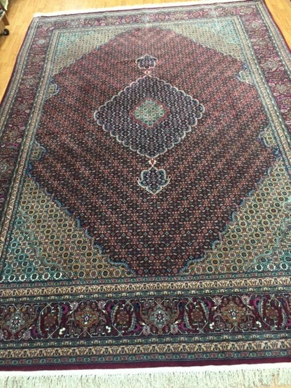 "8'2"" x 11'6"" Sino Chinese Tabriz Oriental Rug - Hand Made - Wool & Silk"