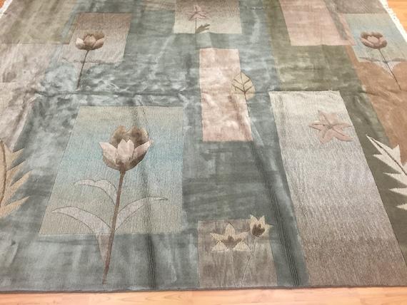 8' x 10' Chinese Nepal Oriental Rug - Hand Made - 100% Wool - Modern