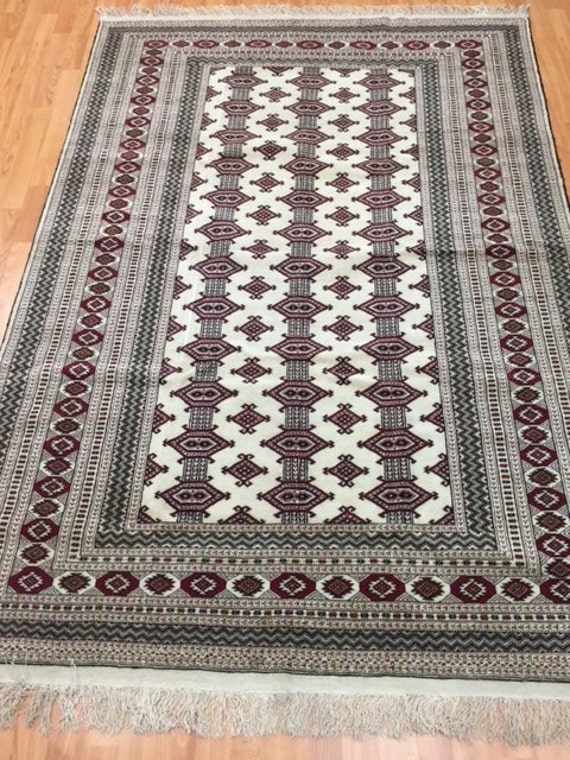 "4'6"" x 6'7"" Pakistani Bokhara Oriental Rug - Very Fine - Hand Made 100% Wool"