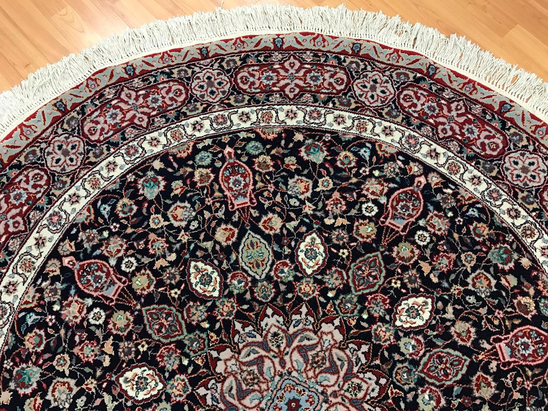 5 X 5 Round Sino Chinese Tabriz Oriental Rug Very Fine