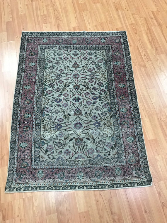 "3' x 4'2"" Turkish Kisery Oriental Rug - 1910s - Hand Made - 100% Wool"