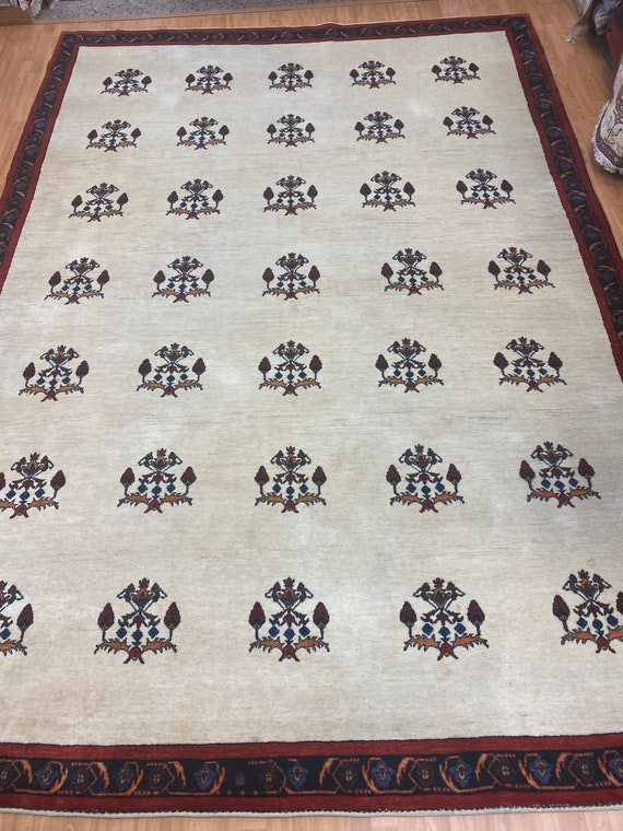 """8'4"""" x 11'10"""" New Very Fine Indian Tribal Oriental Rug - Hand Made - 100% Wool"""