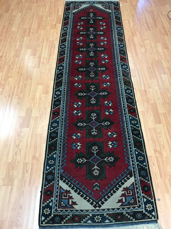 "2'7"" x 9' Turkish Kazak Oriental Rug - Full Pile - Hand Made - 100% Wool - Vegetable Dye"