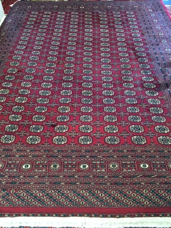 "9'4"" x 12'1"" Pakistani Bokhara Oriental Rug - 100% Kork Wool - Hand Made"