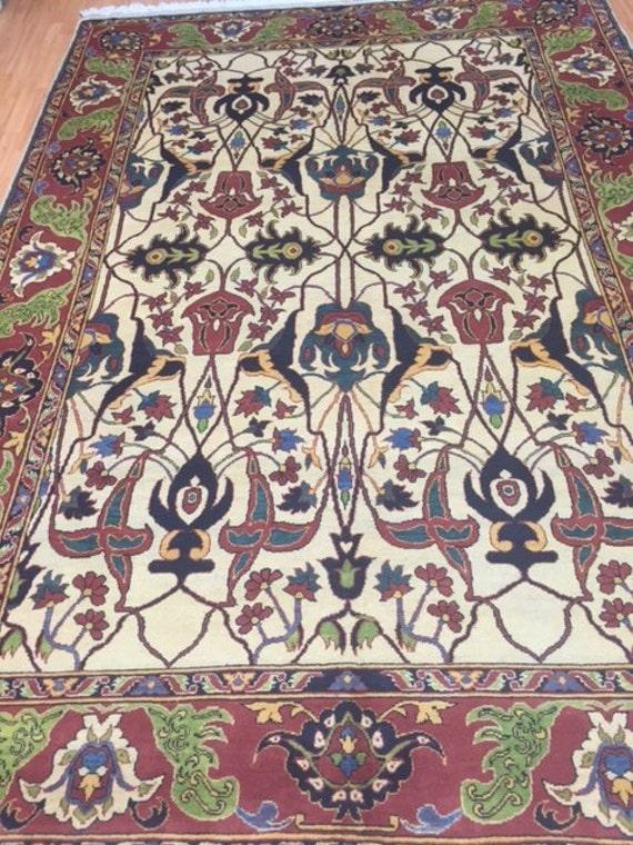 "7'2"" x 10'3"" Afghan Bijar Design Oriental Rug - Hand Made - 100% Wool"