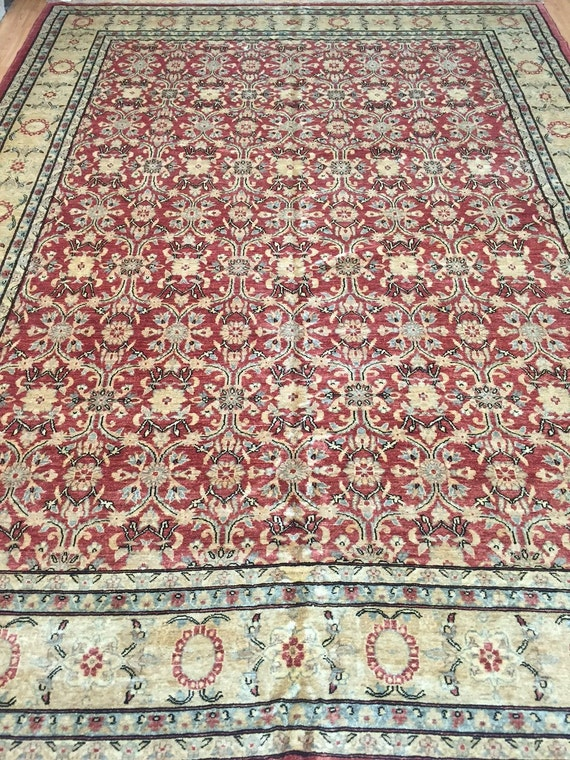 "8'10"" x 11'9"" Pakistani Peshawar Oriental Rug - Hand Made - Vegetable Dye - 100% Wool"