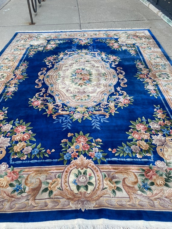 """12' x 15'3"""" Chinese Aubusson Oriental Rug - Full Pile - Hand Made - 100% Wool"""