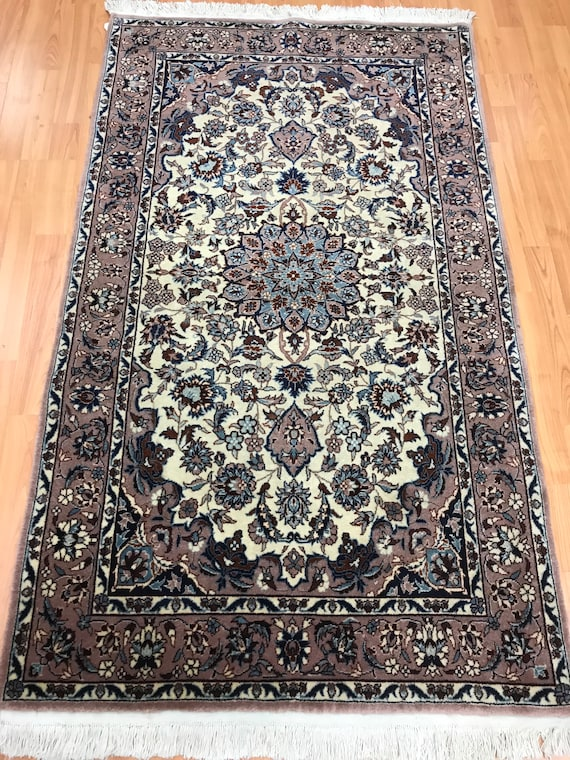 3' x 5' New Sino Chinese Isfahan Oriental Rug - Hand Made - Wool and Silk Pile