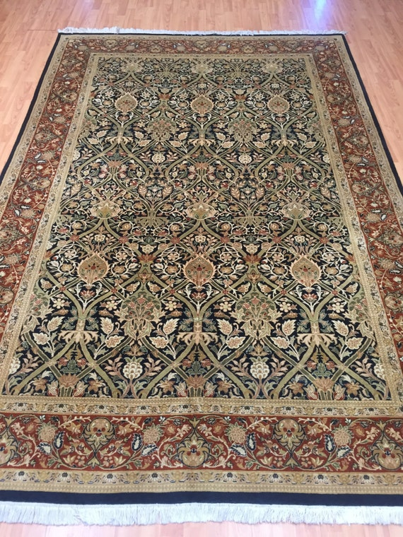 "6'1"" x 9'2"" Pakistani Tabriz Oriental Rug - Over 300 KPSI - Hand Made"