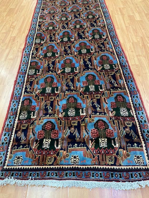 "2'10"" x 11'9"" Kurdish Oriental Rug Floor Runner - 1950s - Hand Made - 100% Wool"