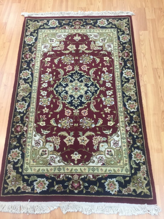 "2'6"" x 4' Sino Chinese Oriental Rug - Hand Made - Wool and Silk Pile"