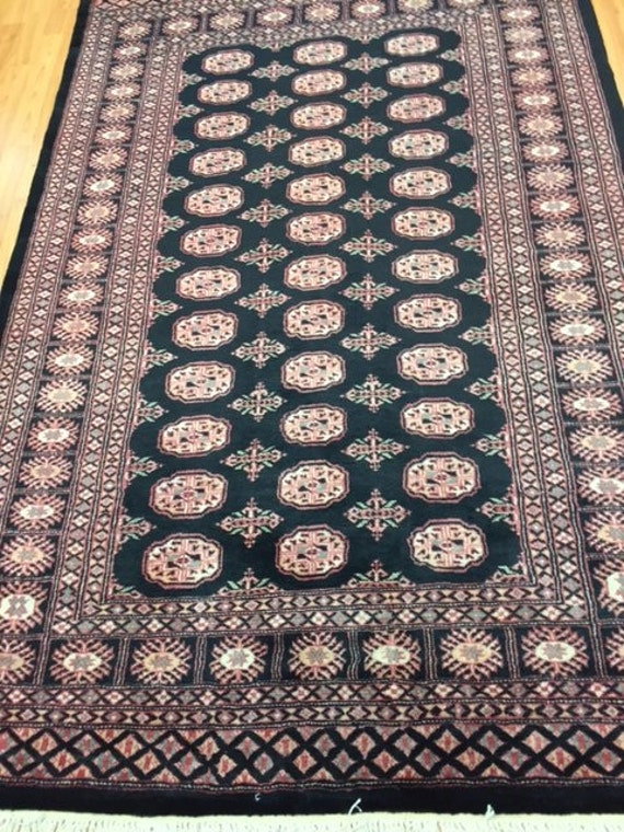 "4'2"" x 6'5"" Pakistani Bokhara Oriental Rug - Hand Made - 100% Wool"