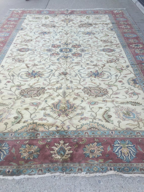 "10'2"" x 14'2"" Egyptian Sultanabad Oriental Rug - Hand Made - Very Fine - Vegetable Dye - 100% Wool"