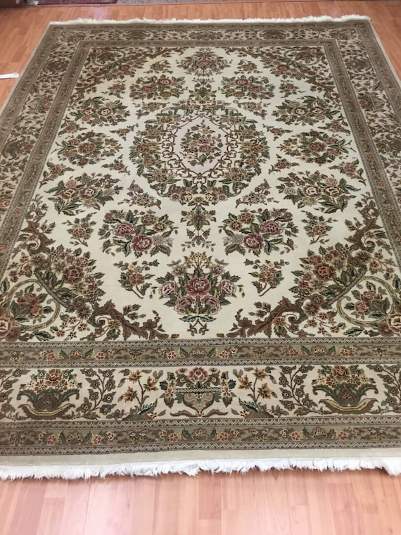 "7'7"" x 10' Sino Chinese Oriental Rug - Wool & Silk - Hand Made - Full Pile"