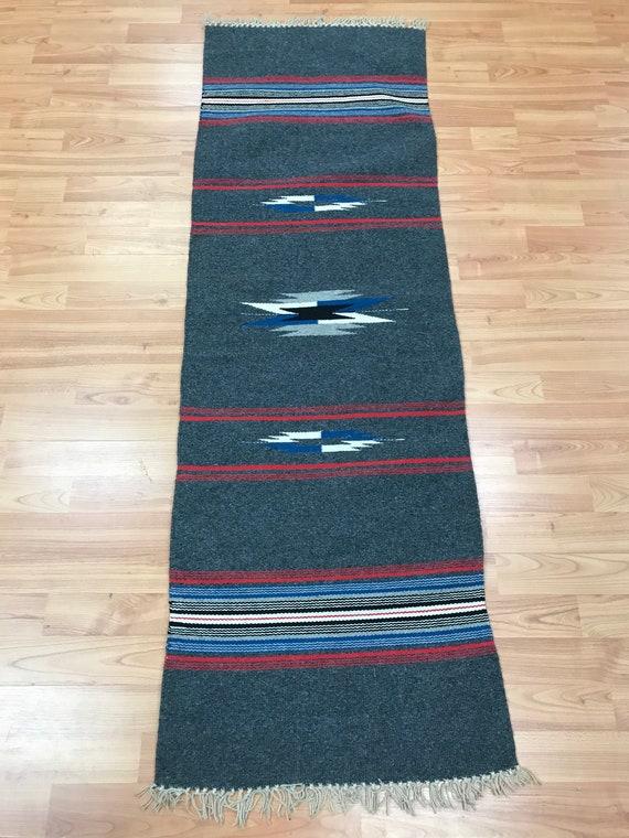 "1'7"" x 5' Native American Navajo Flat Weave Oriental Rug - Kilim - Hand Made - 100% Wool"