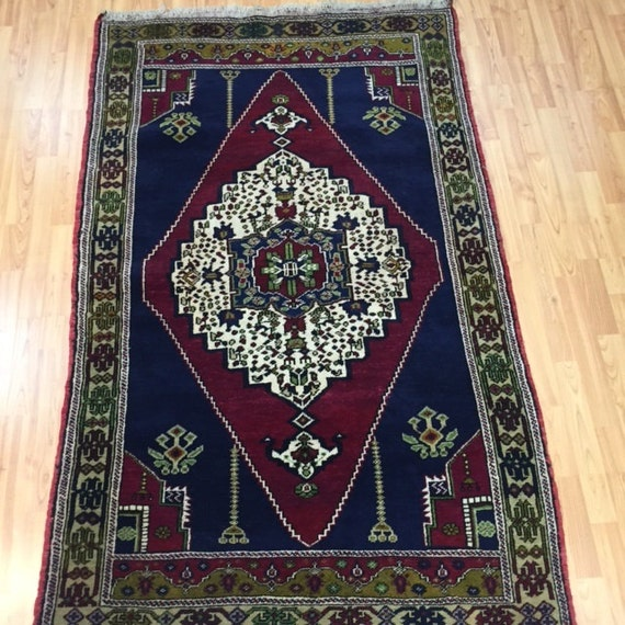 4' x 6' Turkish Serapi Oriental Rug - Hand Made - Full Pile - 100% Wool