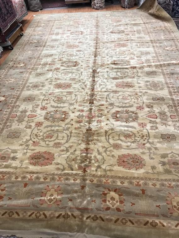 "10' x 15'6"" Romanian Agra Oriental Rug - Hand Made - 100% Wool"