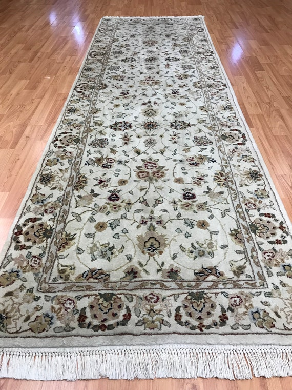 "2'7"" x 8'1"" Chinese Tabriz Oriental Rug Floor Runner - Hand Made - Wool & Silk"