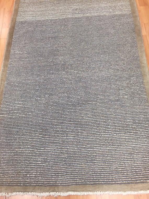 "3'2"" x 4'9"" Afghan Gabbeh Oriental Rug - Hand Made - 100% Wool - Modern"
