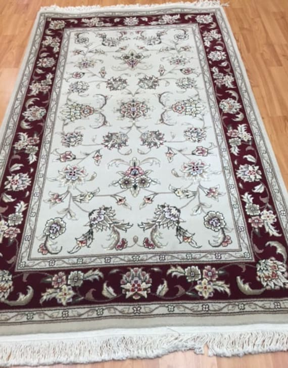 3' x 5' Sino Chinese Oriental Rug - Hand Made - Wool and Silk Pile