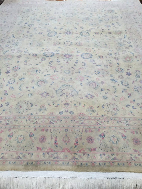 8' x 10' Chinese Kashan Design Oriental Rug - Hand Made - 100% Wool