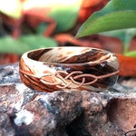 Bocote, Driftwood and Celtic Knot in Rose gold