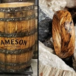 Jameson Whiskey Barrel Wood Ring | Handmade Custom | Wedding Ring | Mens Wooden Ring | Bartender Gift | Anniversary | Birthday | Irish