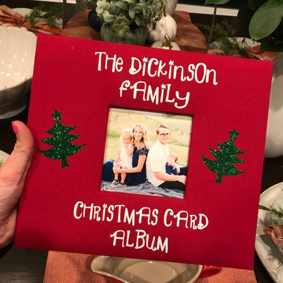 Personalized Christmas Cards.Custom Christmas Card Photo Album Personalized Christmas Card Album Christmas Card Gift Christmas Card Holder Gift For Mom Gift For Sister