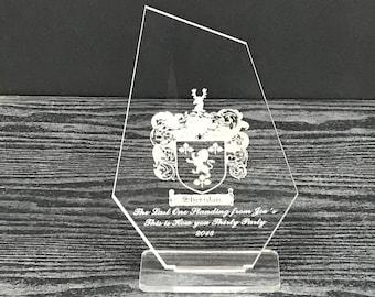 Custom Trophy   Custom Award Plaque   Engraved Award   Engraved Acrylic Trophy   Acrylic Award