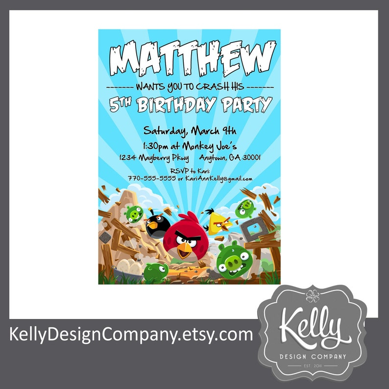 Angry Birds Party Invitation