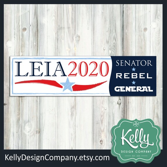 Leia 2020 bumper sticker star wars election decal humor