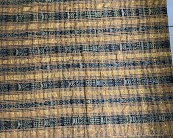 Vintage Guatemalan Fabric Cort\u00e9s skirt 100/% cotton Mayan textile  Ikat dyed 140x33+7 Textile Fabric  circa 1990/'s ikat dyed