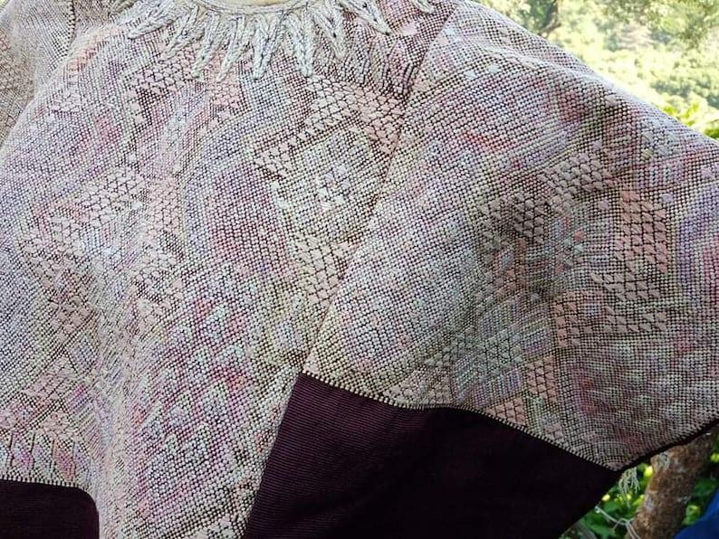 Vintage Guatemalan Mayan Huipil Chichicastenango Circa 1970/'s Handmade Hand Woven Hand Embroidered Poncho Kaftan Caftan Geometric Authentic