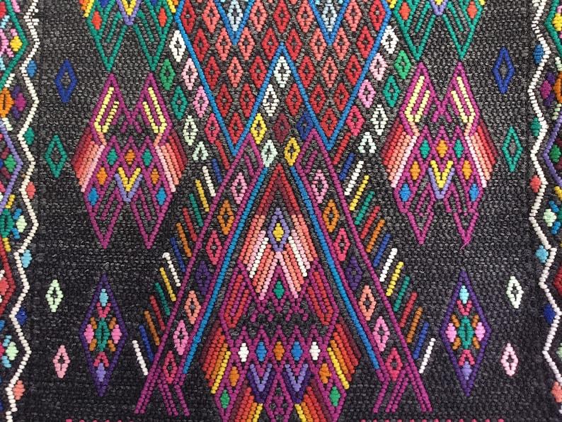 Authentic Vintage Guatemalan Mayan Huipil Chichicastenango Circa 1970/'s Handmade Hand Woven Hand Embroidered Poncho Kaftan Caftan