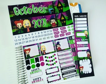 October Monthly Planner Sticker Kit for 2021 ECLP