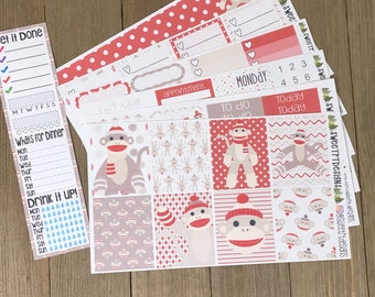 """Deluxe Weekly Planner Sticker Kit """"Who's Your Monkey"""""""