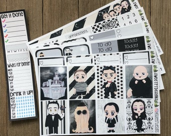 """Deluxe Weekly Planner Sticker Kit  """"Family Values"""""""