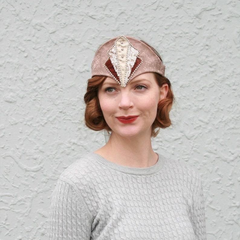 Art Deco Diamante Bandeau Headband image 0