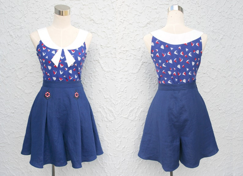 Nautical 1930s style playsuit image 0