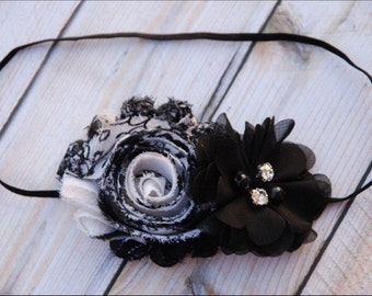 Black and White Headband/ Baby Headband,  Baby Headband, Newborn Headband, Headbands, Infant Headbands, Baby Headband