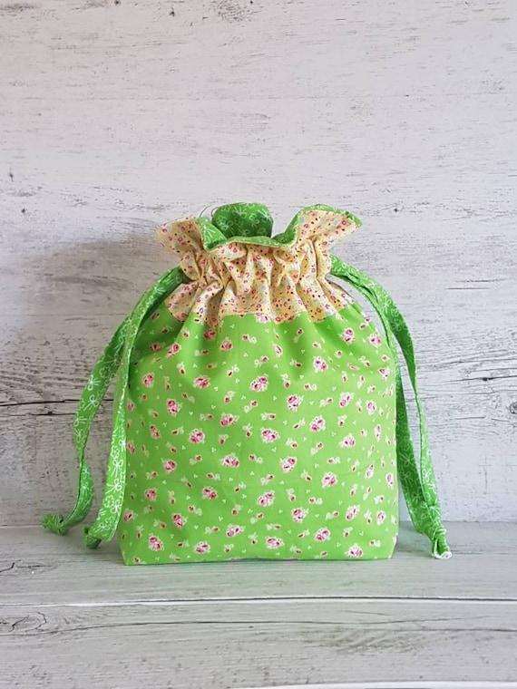 Stricken Projekttasche Floral Beutel Tasche Nähen | Etsy