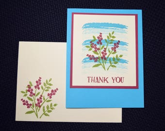 Thank You Greeting Card - Floral 1