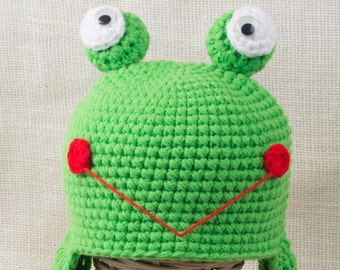 Frog Hat - Toddler Frog Hat - Child Frog Hat - Crochet Hat - Animal Hat