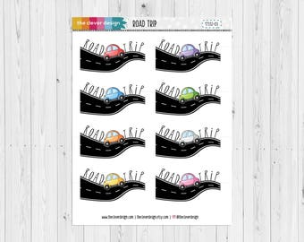 Road Trip Planner Stickers | Road Trip Stickers | 17332-03